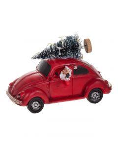 Jouluauto punainen LED